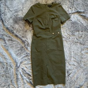 Banana Republic Midi Dress Military Green (size 6)